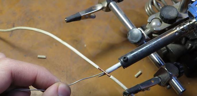 como soldar cables con estaño