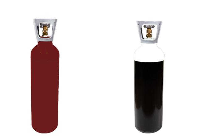 Botella de acetileno y de oxigeno para soldar