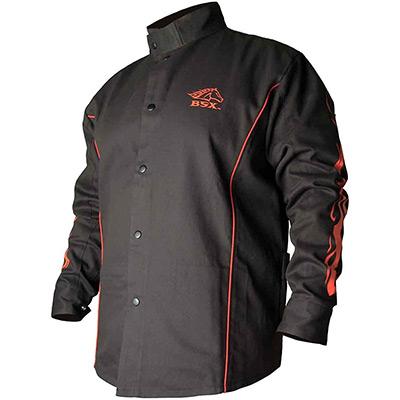 chaqueta de soldador resistente al fuego